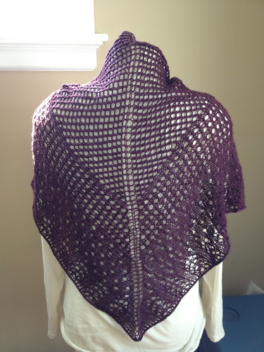 Shawl Back view
