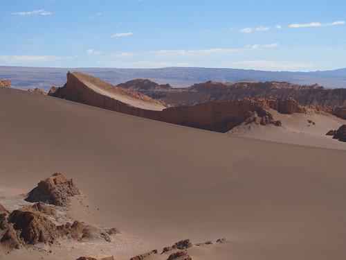 Le désert d'Atacama: l'Amphitéâtre (Valle de la Luna)