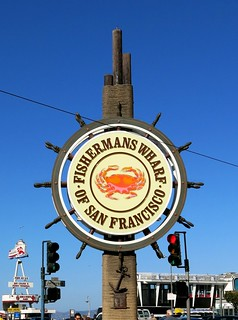 FISHERMANS WHARF Sign - San Francisco - sign designed by Bob Miller of AD-ART