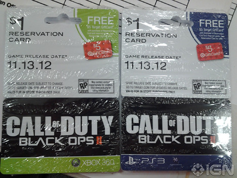 Black Ops 2 ticket