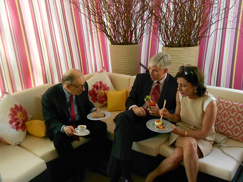 Alan Greenspan, David Gregory of Meet the Press and wife Beth Wilkinson