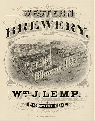 1875 Western Brewery, Wm. J. Lemp, Proprietor St. Louis MO - Western engraving co by carlylehold
