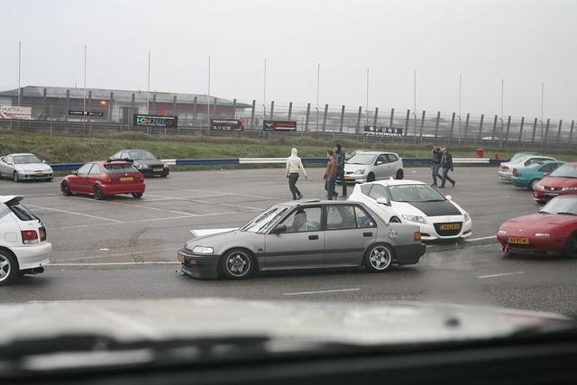 Stickerbombed Honda EF