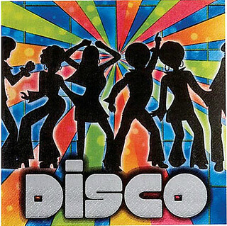 Example of disco theme for a class reunion