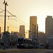 Eastside Gold Line and Los Angeles skyline