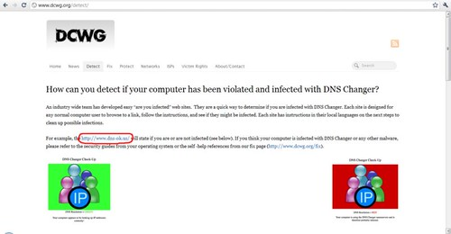 Mendeteksi virus DNS Changer di komputer