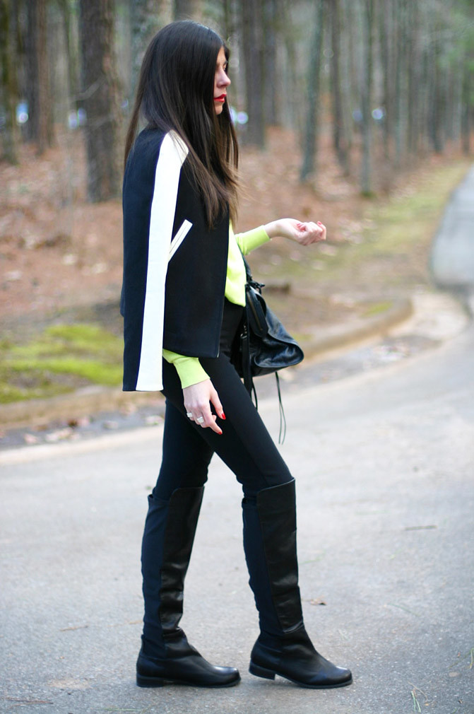 Zara, Phillip Lim, Varsity Jacket, Balenciaga city bag, Fashion, Outfit, Neon Style