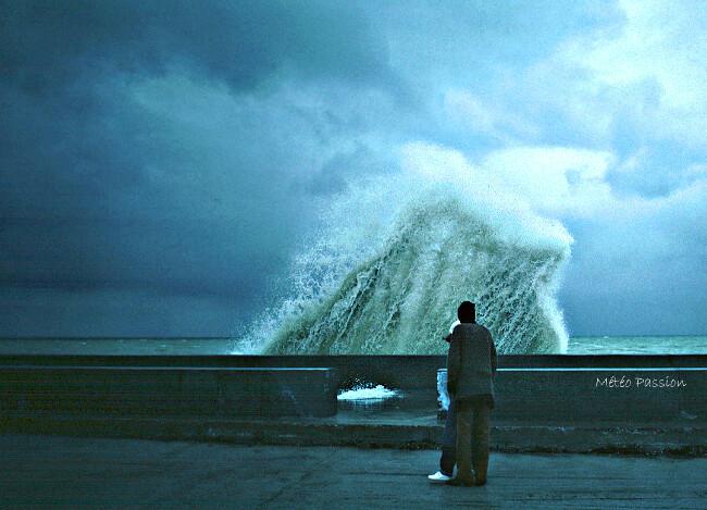 temps frais et maussade à Etretat le 19 avril 1981 météopassion