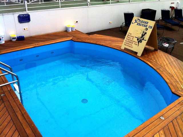 Tiny Pool On The American Queen Steamboat By