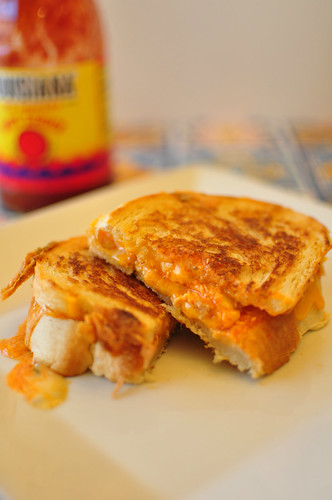 Buffalo Chicken Grilled Cheese