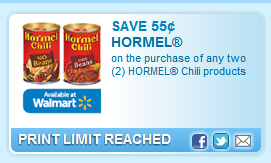 Hormel Chili Products  Coupon