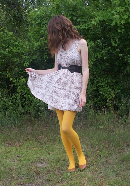 mustard tights four