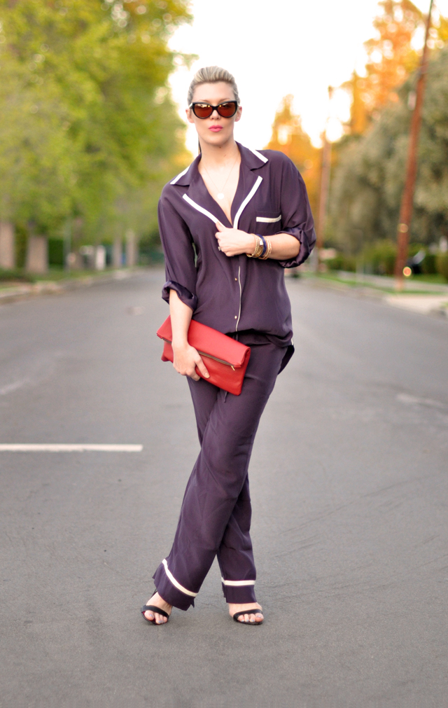 pajama dressing-ari dein pajamas and heels