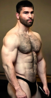 Beard & Muscles & Face & Biceps & Hairy