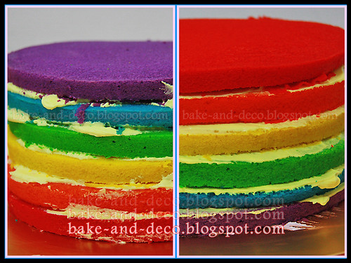 Italian Rainbow Cake + Tutty Fruity Cream + Lapis Cheezy (Fully Hands On) ~ 25 April 2012