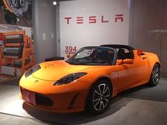 automobile(1.0), tesla(1.0), automotive exterior(1.0), tesla roadster(1.0), vehicle(1.0), automotive design(1.0), auto show(1.0), land vehicle(1.0), luxury vehicle(1.0), supercar(1.0), sports car(1.0),