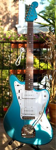 blue sparkly Jazzmaster