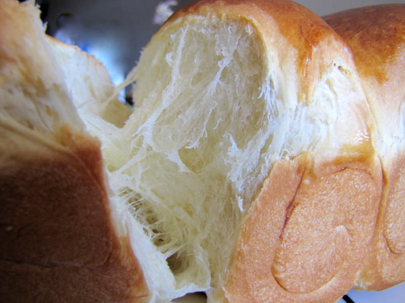 ... using hokkaido milk though why not milk loaf this scalloped bread tube