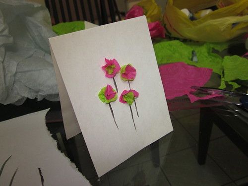 Tissue Flower Mother's Day Card