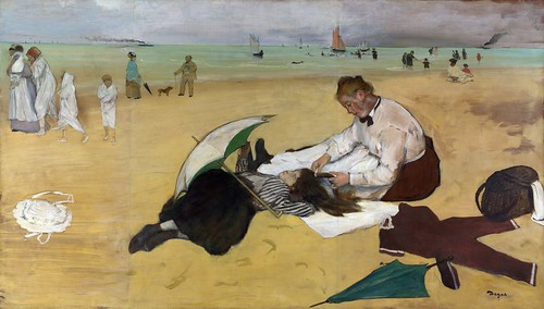 Edgar Degas - A Beach Scene [c.1869-70] by Gandalf's Gallery