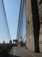 Walking the Brooklyn Bridge - NYC
