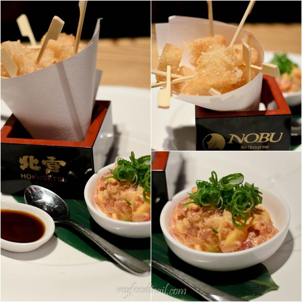 Nobu - Crispy rice with spicy tuna $28