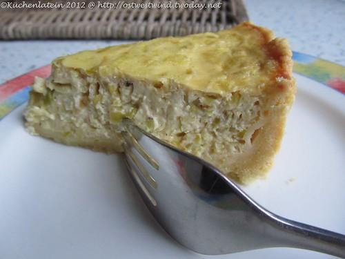 Vegetarischer Donnerstag: Tarte Lauch + Schmelzkäse (2)