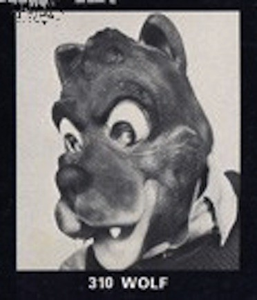 "Vintage Don Post ""Big Bad Wolf"" mask"