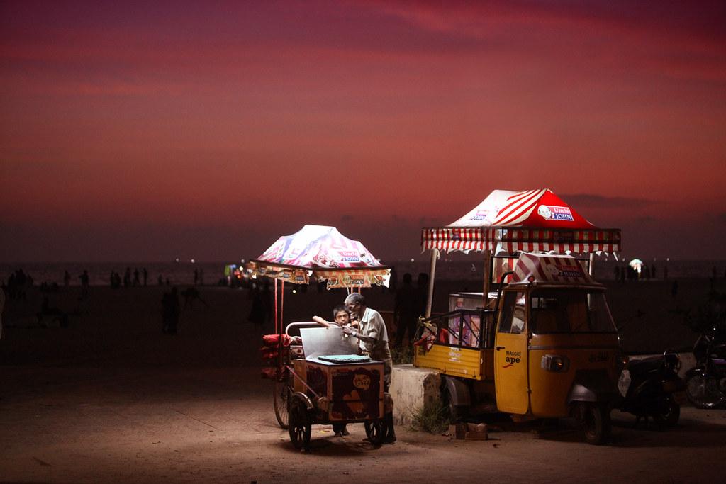 Uncle John Ice Cream @ Alleppey beach, Kerala