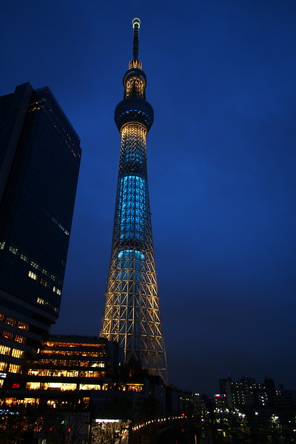 Skytree in Blue