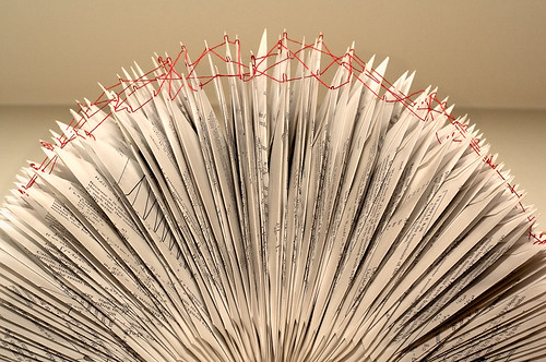 Altered Book: Threads of Transformation - detail