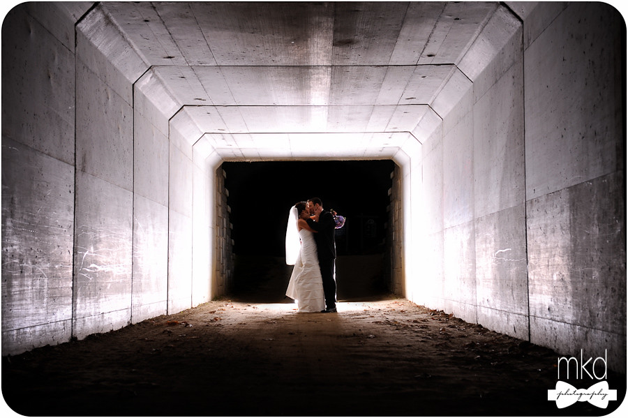 Bride & Groom in a Tunnel