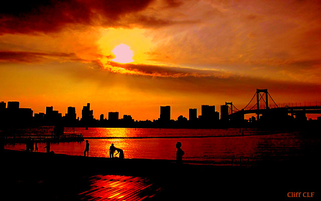 Sunset at Odaiba.