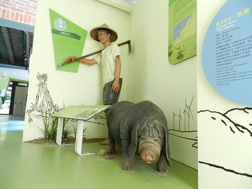 桃園縣河川教育中心--蠟像