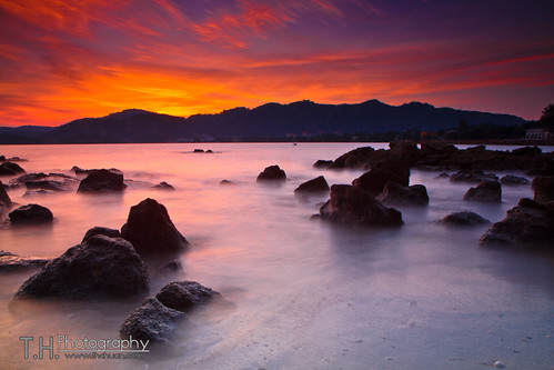 Sunset at Teluk Kumbar, Penang 2