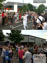 #Project252 - Day 107: Olympic Torch Relay passes Farr & Harris in Shrewsbury