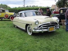 automobile, automotive exterior, hudson hornet, pontiac chieftain, vehicle, full-size car, compact car, antique car, sedan, vintage car, land vehicle, luxury vehicle,