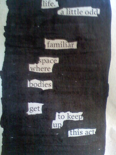 life. a blackout poem