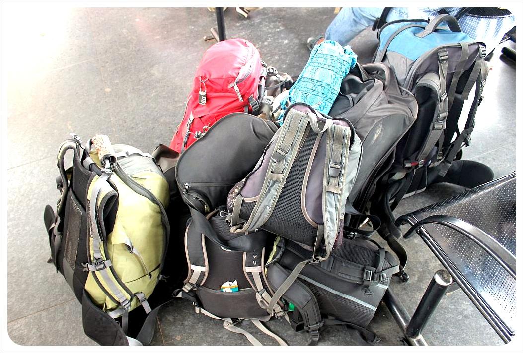 train station luggage