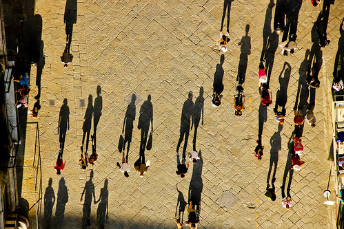 Shadows in Piazza, Florence