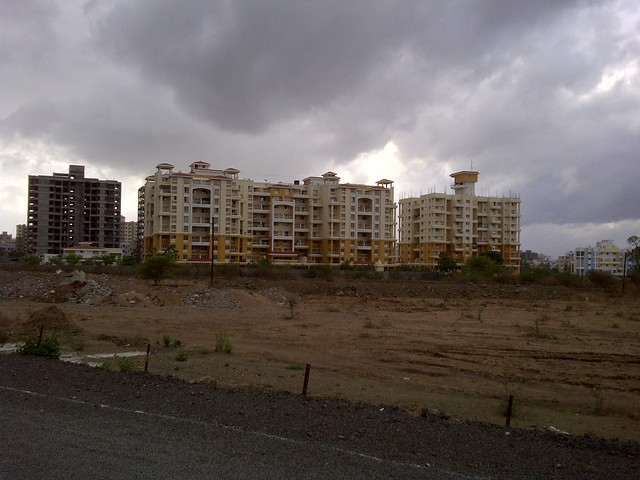 Athashri Baner from the entrance of Amit's Sereno, 2 BHK & 3 BHK Flats near Pancard Clubs, Baner Pune 411045