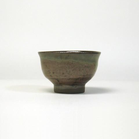 小袋定雄窯 盃/サビ飴・青流し(少し大きめ)