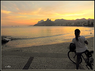 O último por do sol  de Ipanema.