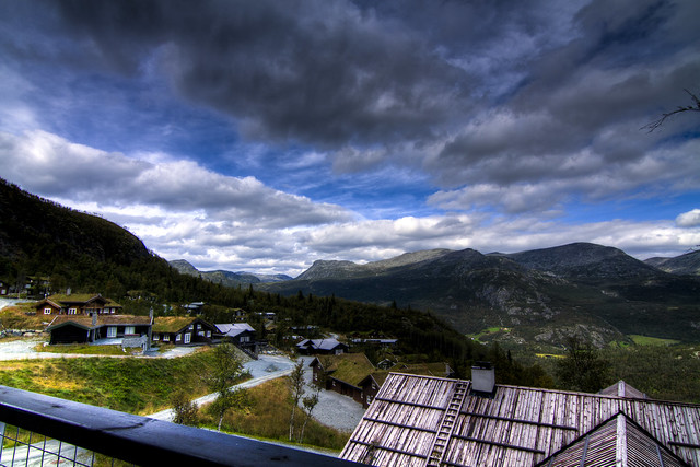 Dramatic Skies Above Skarsnuten Hemsedal