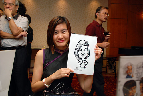 Caricature live sketching for The Bank of East Asia Staff Annual D&D - 6