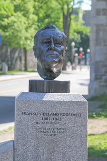 Buste de Franklin D. Roosevelt, Québec