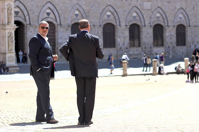 Italian men in suits