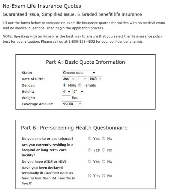 No Physical Life Insurance Quotes: Guranteed Issue Term Life Insurance