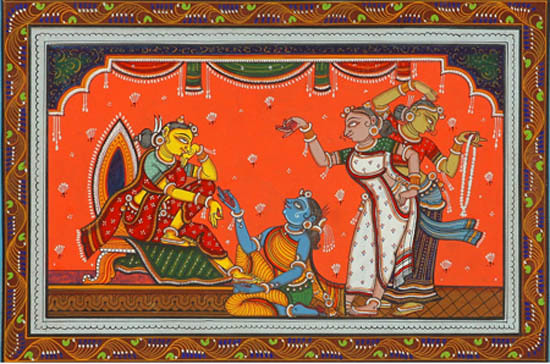 Radha Waiting for Krishna – Patachitra