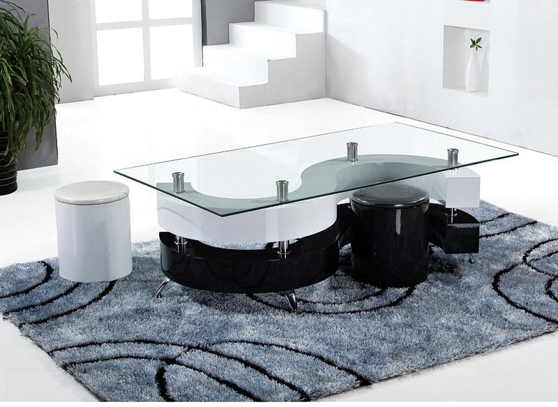 Table basse halifax design 2 poufs neuf ebay - Table basse encastrable ...